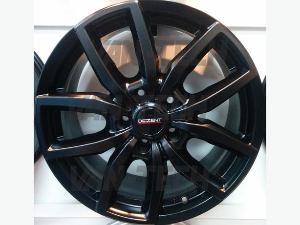 Dezent TE Dark 18″ Alloy Wheels Black VW T5 and T6 Vans