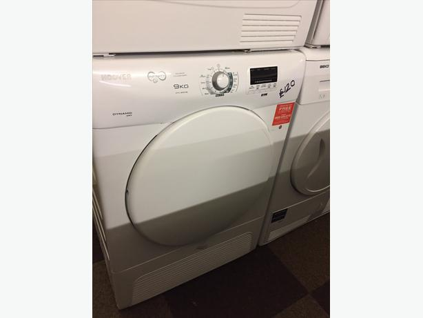 SPECIAL OFFER - 9 KG LOAD HOOVER CONDENSER DRYER WITH GUARANTEE