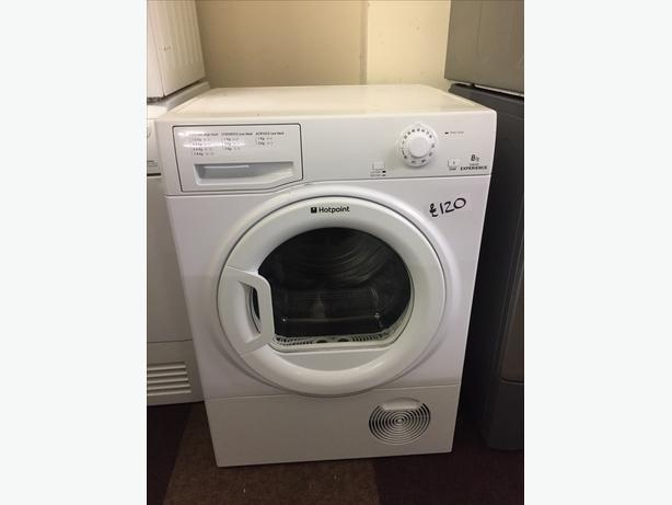 EXELLENT CONDITION 8 KG HOTPOINT CONDENSER DRYER WITH GUARANTEE