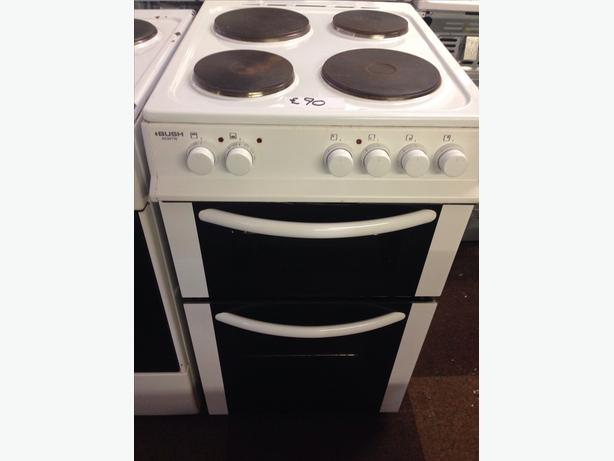 BUSH 50CM PLATED TOP ELECTRIC COOKER
