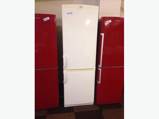 WHIRLPOOL CREAM FRIDGE FREEZER