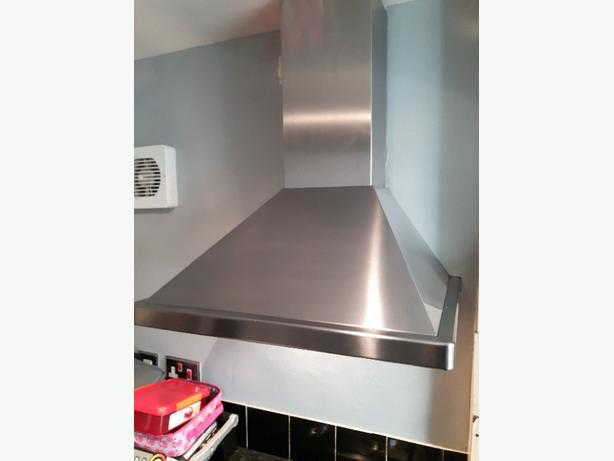 kitchen extractor hood stainless steel