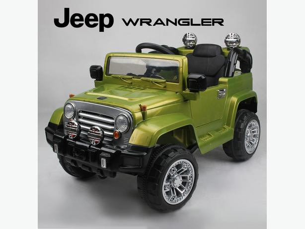 Rebo Outlander 12V Electric Battery Ride On Jeep - Green