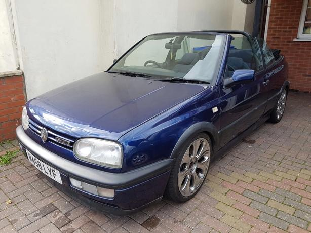 2x Golf covertible. mk3 and mk4