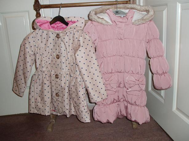 Two Girls Coats 4-5 yrs