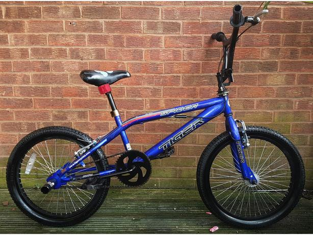 "Spider Tiger bmx bike,20""wheels,stunt pegs,full turn giro steering"