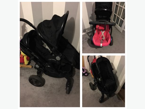 icandy peach 3 blossom pushchair with maxi cosi car seat