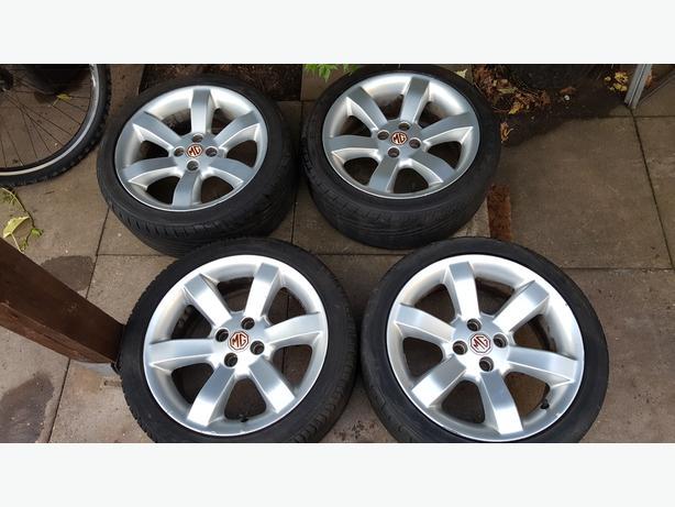 4 x MGF or Triumph TR7 Wheels & Tyres 215x40x16 Inch