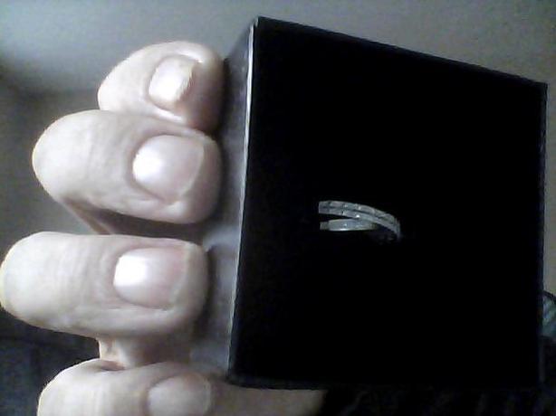 white gold ladys ring