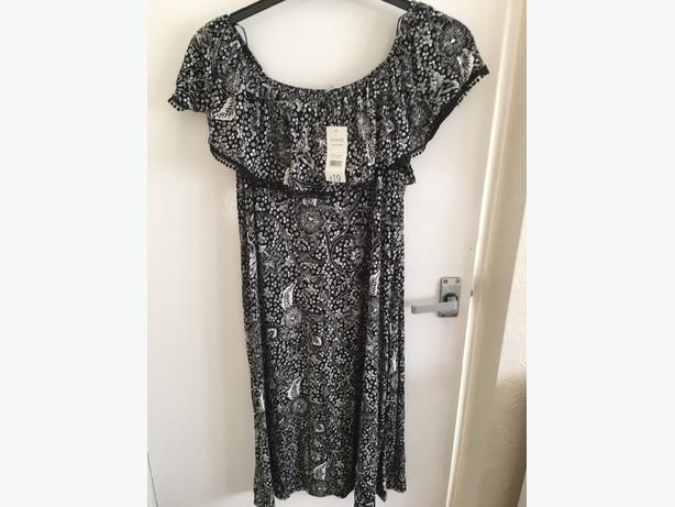george black and white dress brand new size20