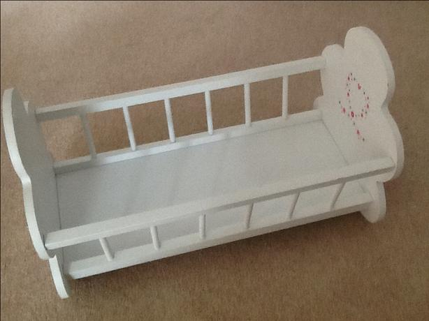 Rocking dolls cradle