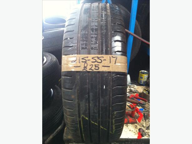 215-55-17 Continental ContiEcoContact 5 94V 6mm Part Worn Tyre