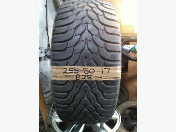 255-50-17 Yokohama 100V 7.5mm Part Worn Tyre