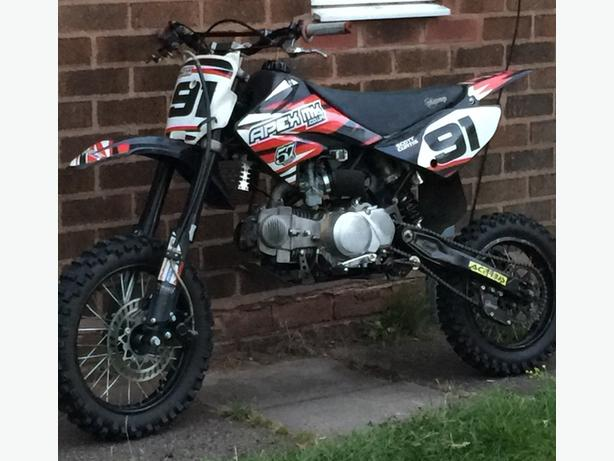 pitbike big wheel 140 cc stomp £520 ovno