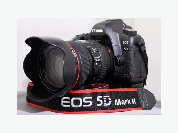 Canon EOS 5D Mark II 21.1MP Digital SLR Camera - Black (Kit w/ EF L IS USM...