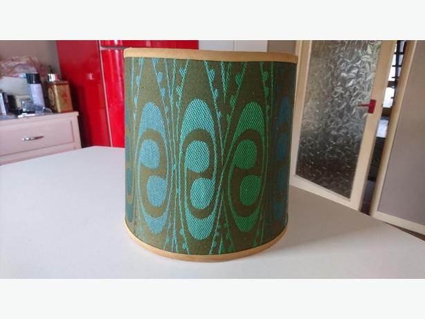 GENUINE 1960 / 70S GROOVY MATERIAL COVERED LIGHT LAMP SHADE DECOR FAB G//C