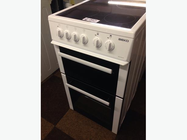 BEKO 50CM DOUBLE OVEN FAN ASSISTED ELECTRIC COOKER
