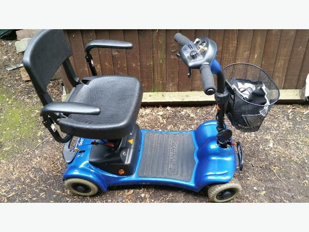MOBILITY SCOOTER. FITS IN CARBOOT.  NIPPY. NEW BATTERIES. £249 ono