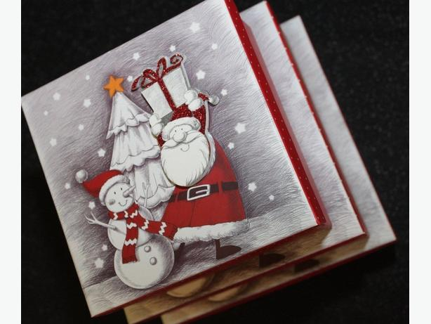 Christmas gift boxes sets of 3 in two designs, BARGAIN!!!