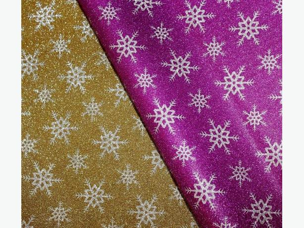 Snowflake glitter sparkle gift wrapping sheets perfect for Christmas- 70x50cm
