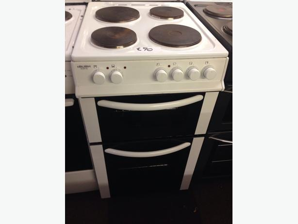 BUSH PLATED TOP 50CM ELECTRIC COOKER