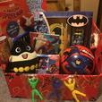 childrens superhero hamper toy bundle christmas gift