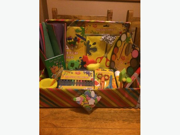 childrens art and craft hamper toy bundle christmas
