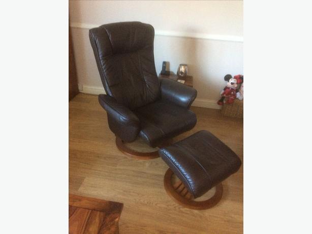 Swivel Chair & Footstool.