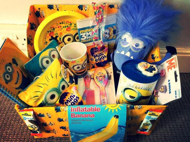 childrens minion gift hamper toy bundle christmas