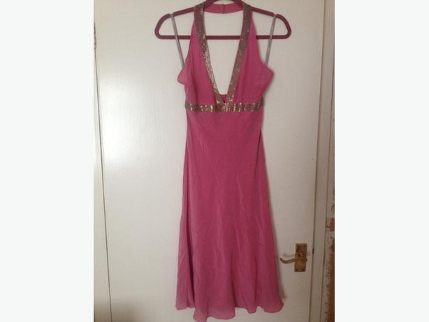 warehouse pink dress