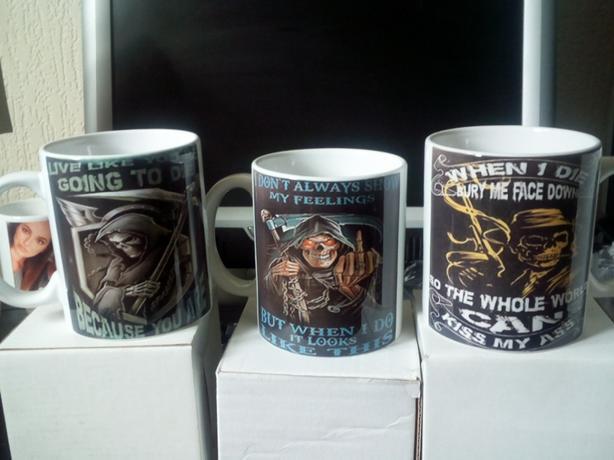 3 x horror mugs