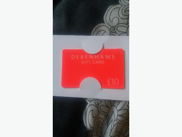 Debenhams Gift card