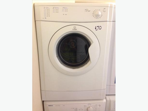 INDESIT 6KG VENTED DRYER WHITE