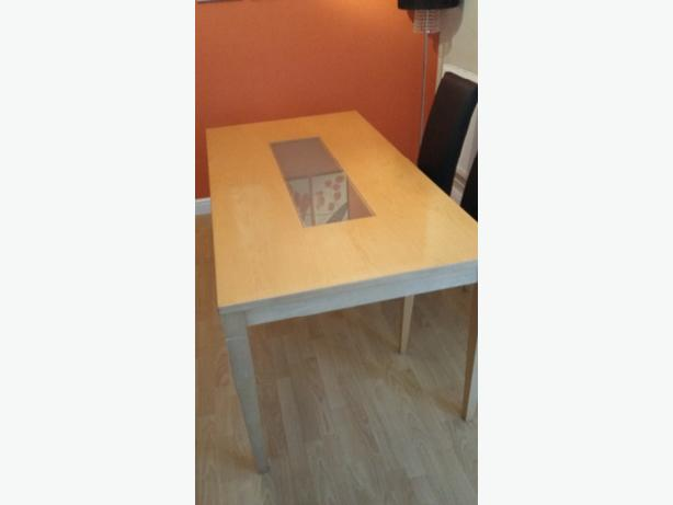Beech dining table and chairs