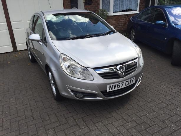 vauxhall corsa 1.2 design half leather 78k mp3 radio with aux