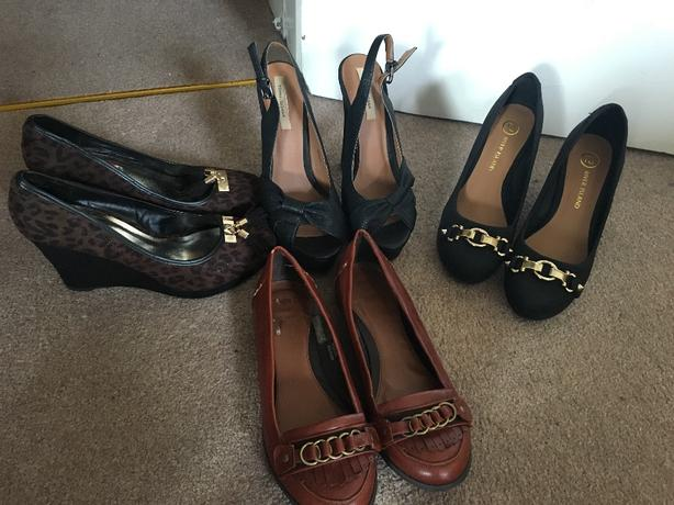 4x River Island shoes,size 5
