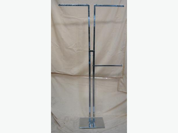 Adjustable Retail Clothing Stand 50cm- 180cm 3 Arms
