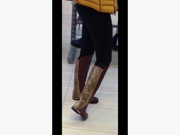 knee high boots brown