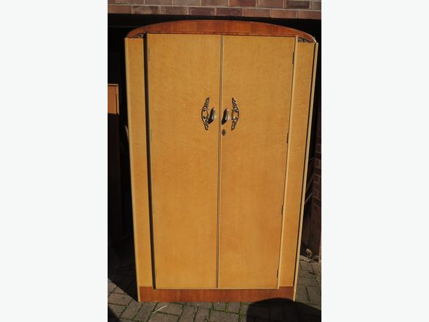 REDUCED! LOOK->> Bird's Eye Maple Veneer Double Wardrobe by Dependable