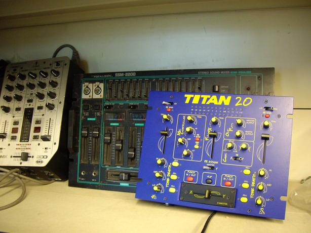 3  DISCO AUDIO MIXERS  ONE NEW AND BOXED