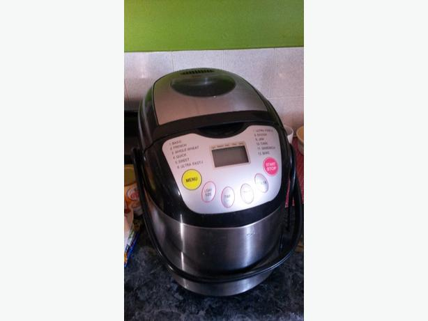 bread maker and coffee maker
