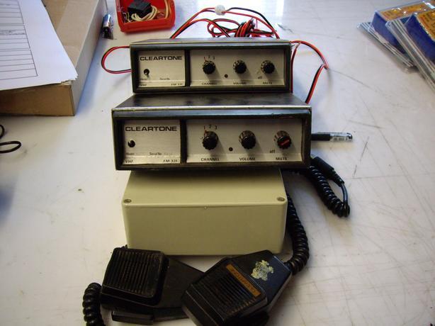 2 X  PMR  RADIOS WITH MICS  VHF