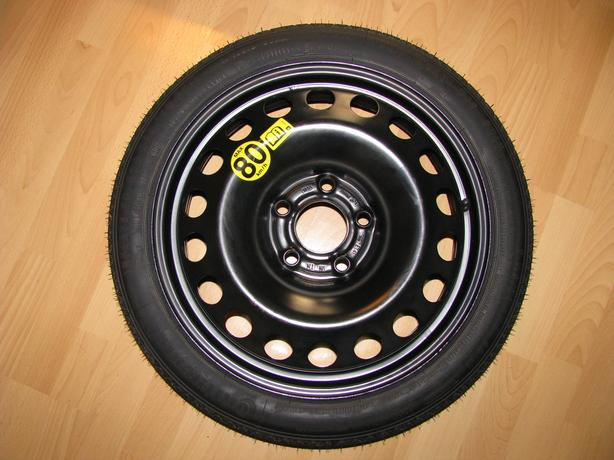 Zafira B space saver spare wheel with bolts