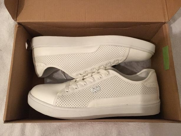 Mens White BCK&HRSY Trainer UK Size 9