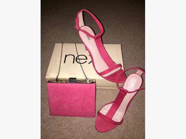 Next Coral Sandals & Bag