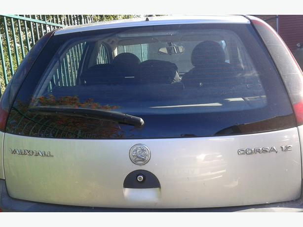 VAUXHALL CORSA C BOOT LID TAILGATE COMPLETE