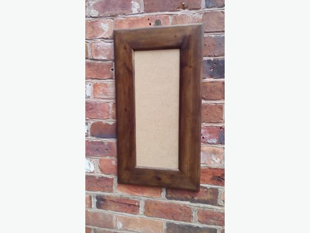 Reclaimed look vintage style large chunky wooden picture frame