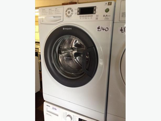 HOTPOINT LCD DISPLAY 8KG WASHING MACHINE