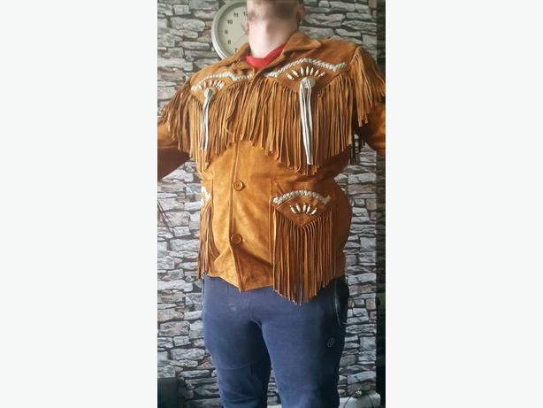 native American real leather jacket xxl