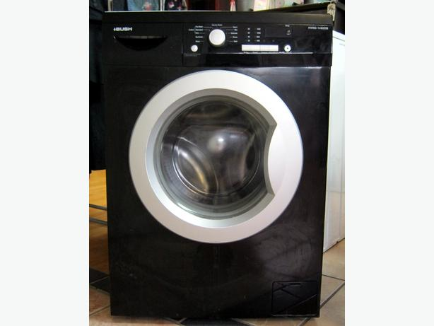 Bush Black Washing Machine, 1400 Spin, 6kg Capacity, 6 Month Cover